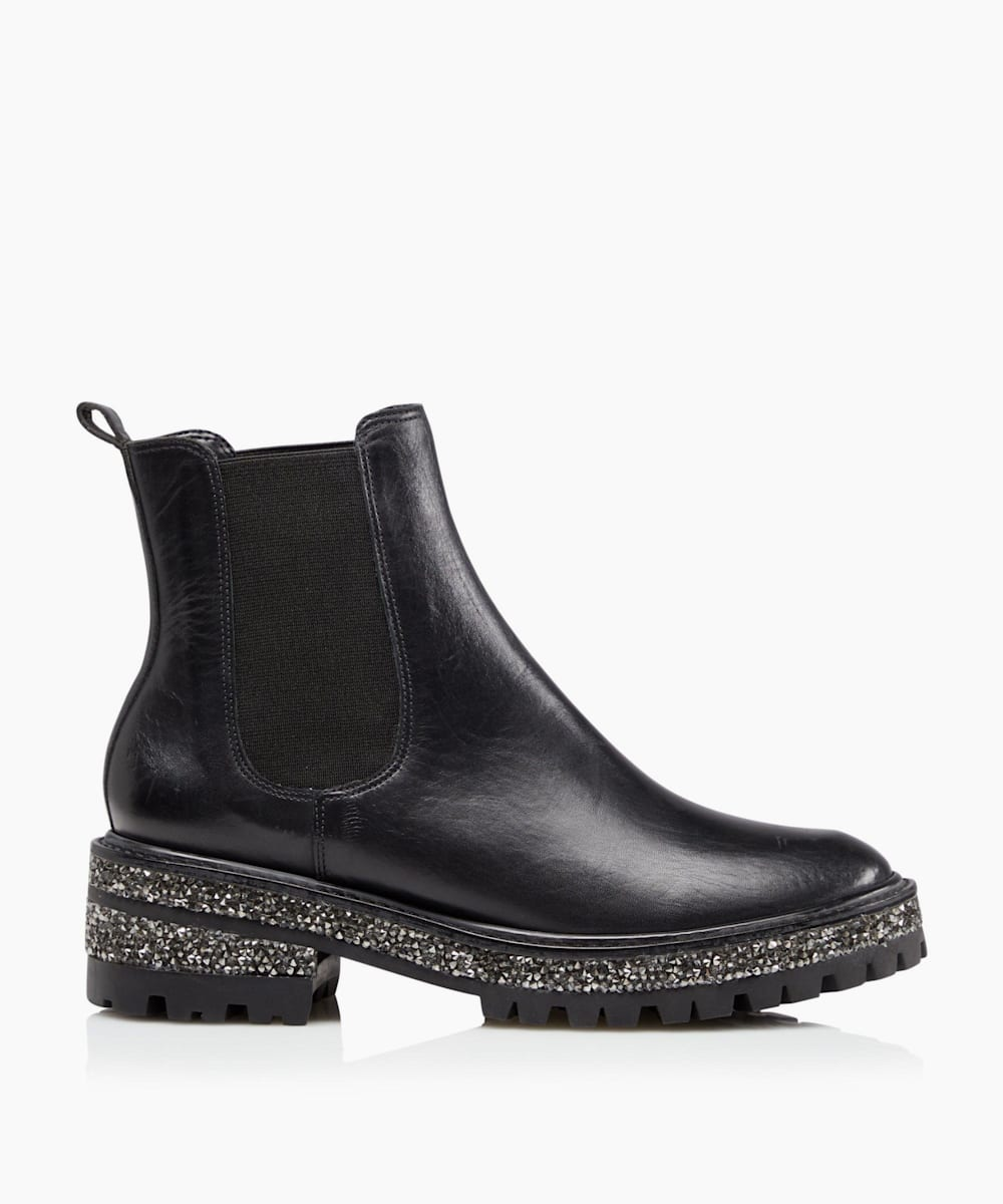 Glitter Sole Chelsea Boots