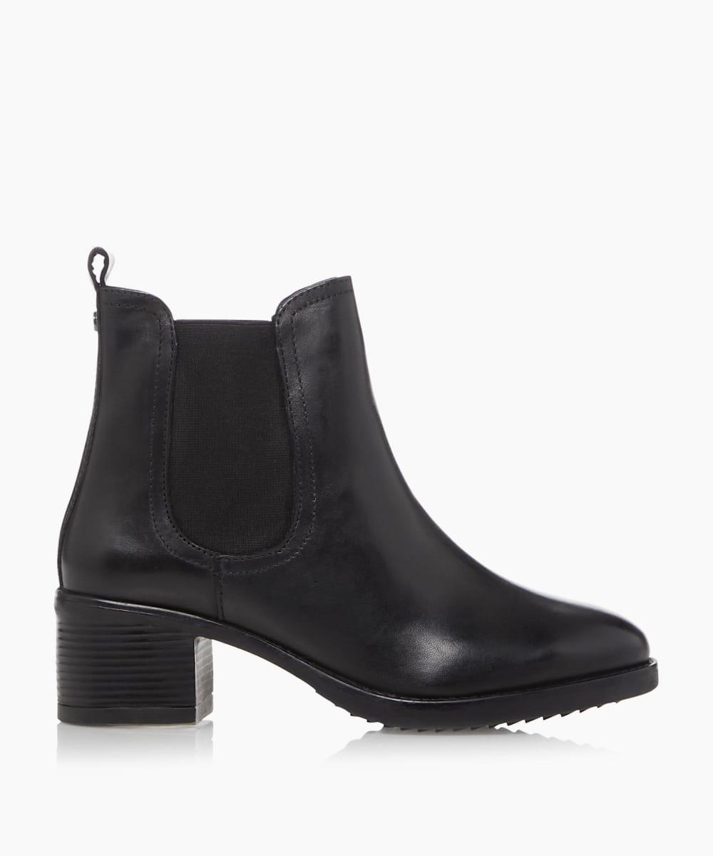 Mid Block Heel Ankle Boots