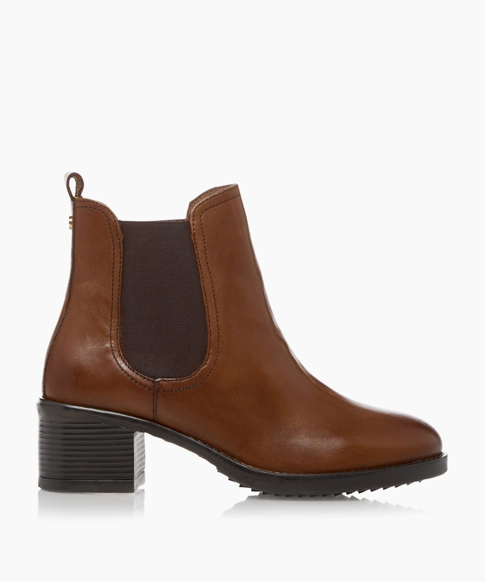 Mid Block Heel Ankle Boots
