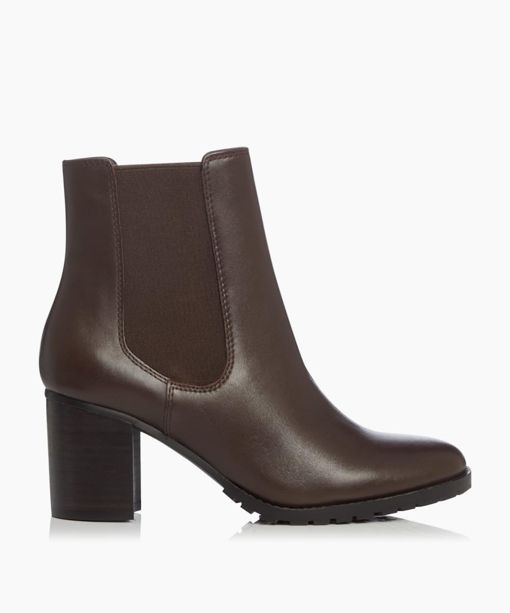 Cleated Block Heel Chelsea Boots