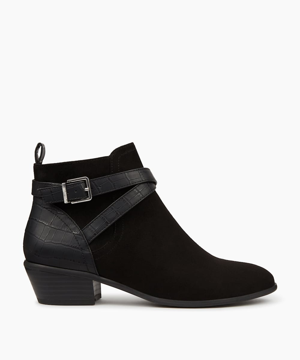 Strap Detail Ankle Boots