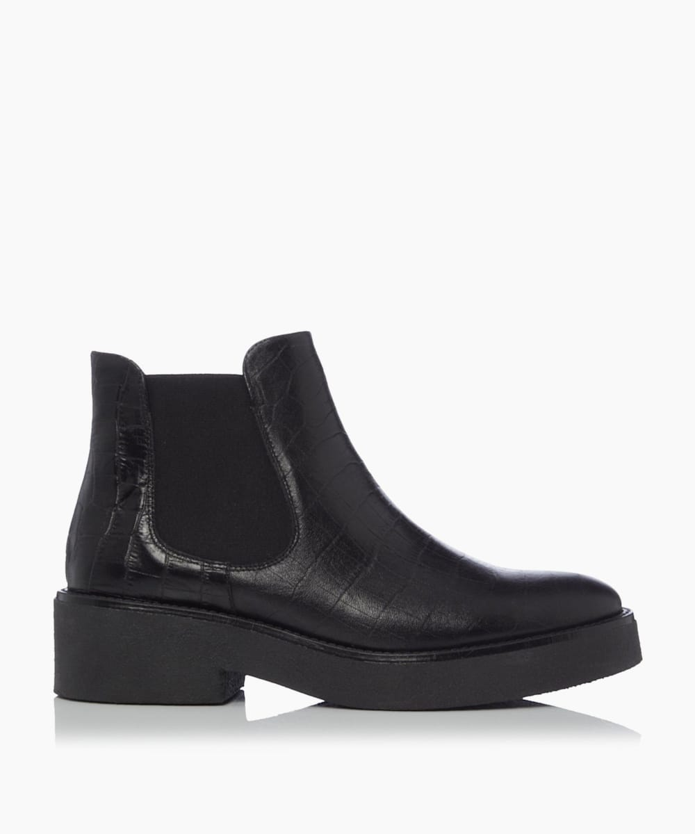 Croc Embossed Chelsea Boots