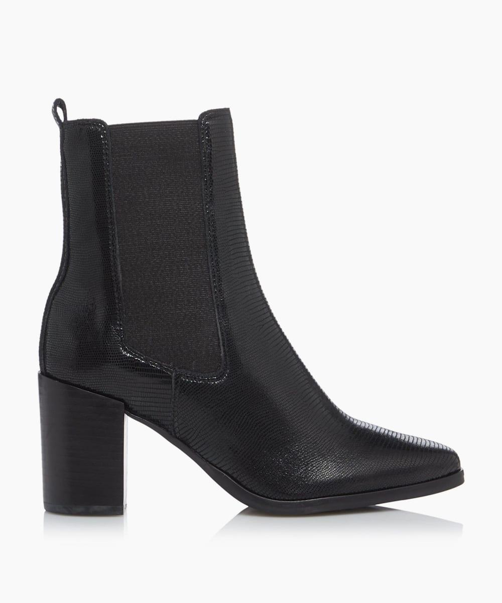 Square Toe Block Heel Chelsea Boots