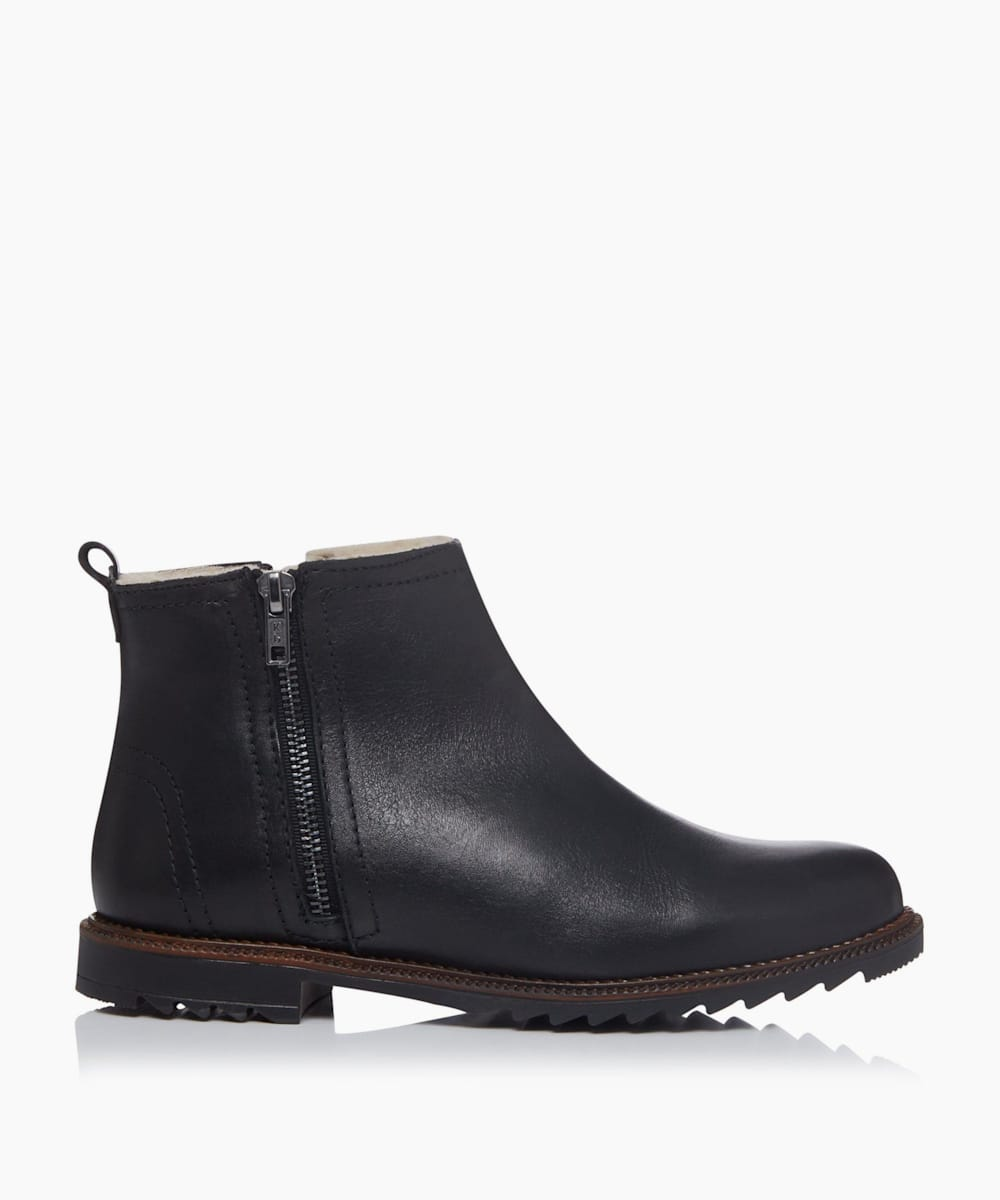 Shearling Zip Up Ankle Boots