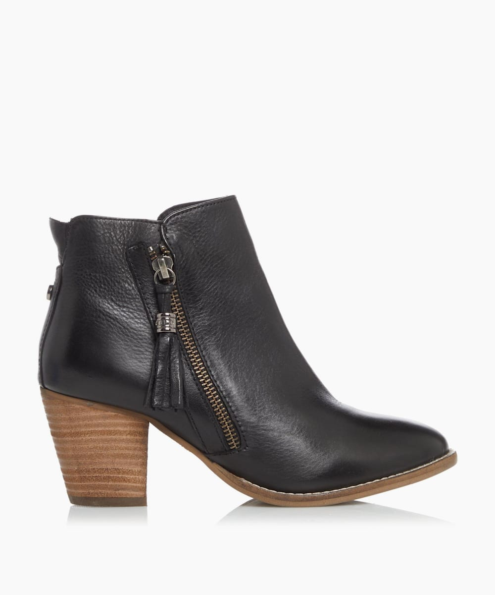 Zip Up Tassel Ankle Boots
