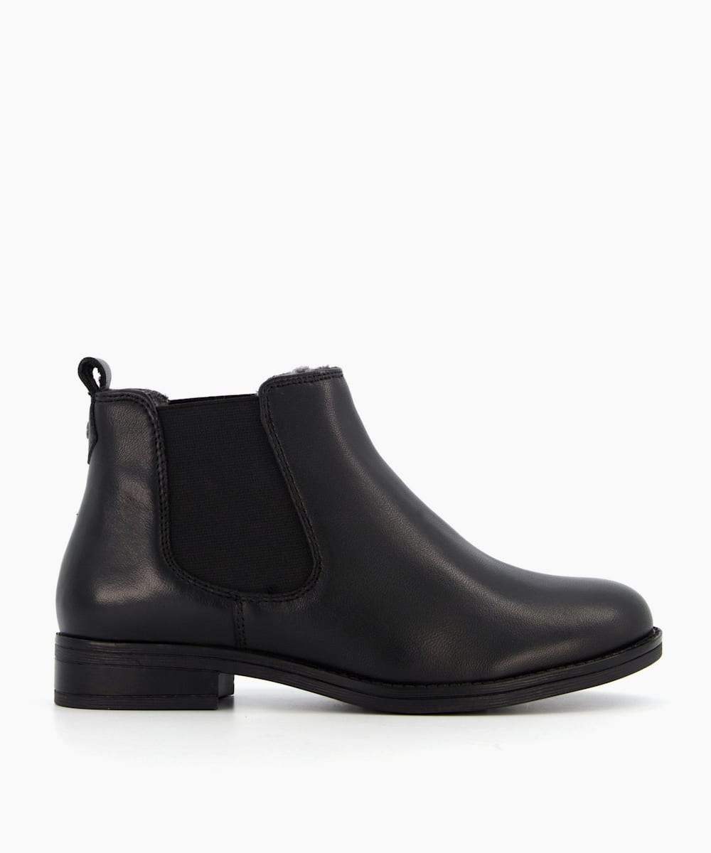 Borg Lined Chelsea Boots