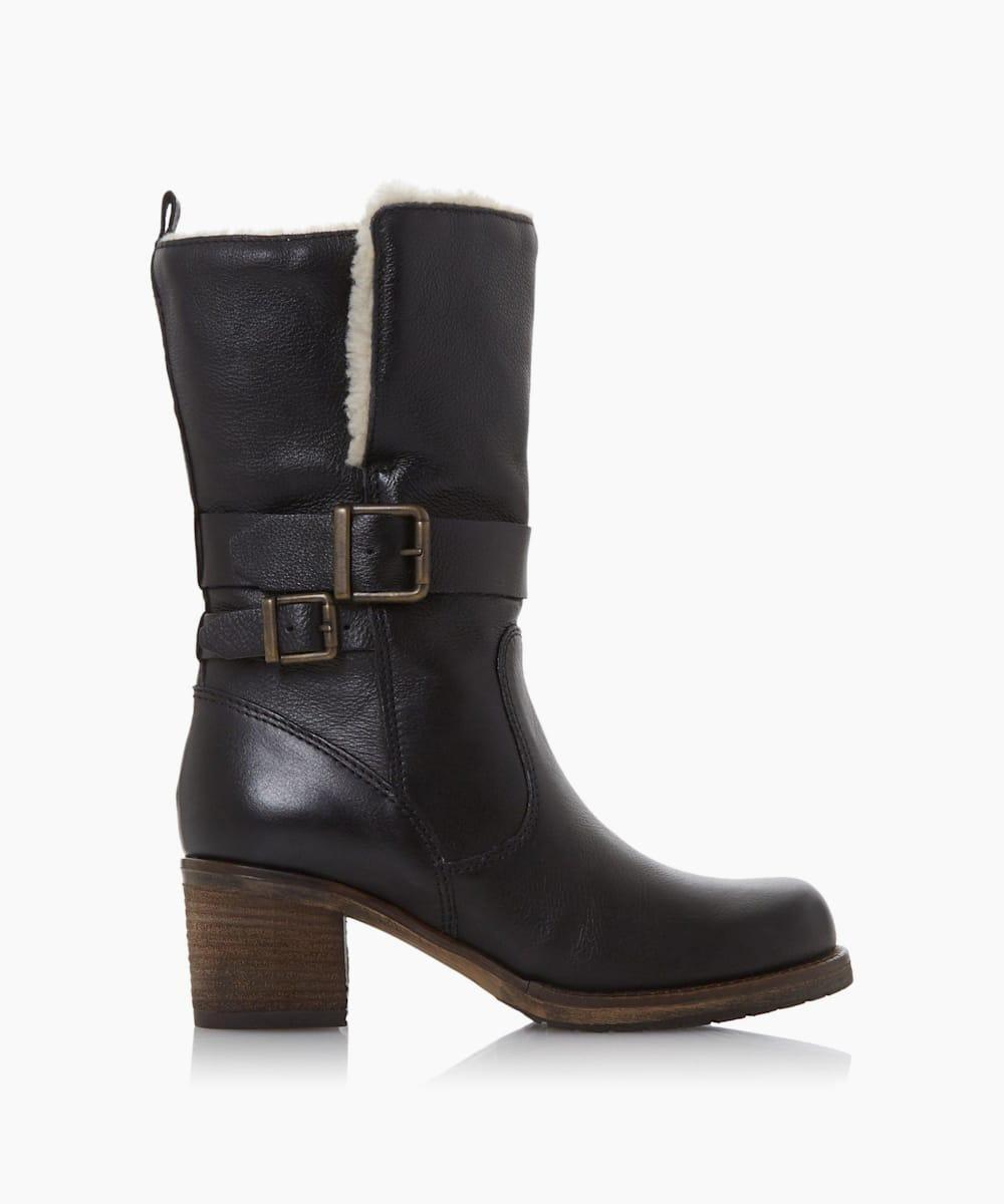 Borg Collar Calf Boots