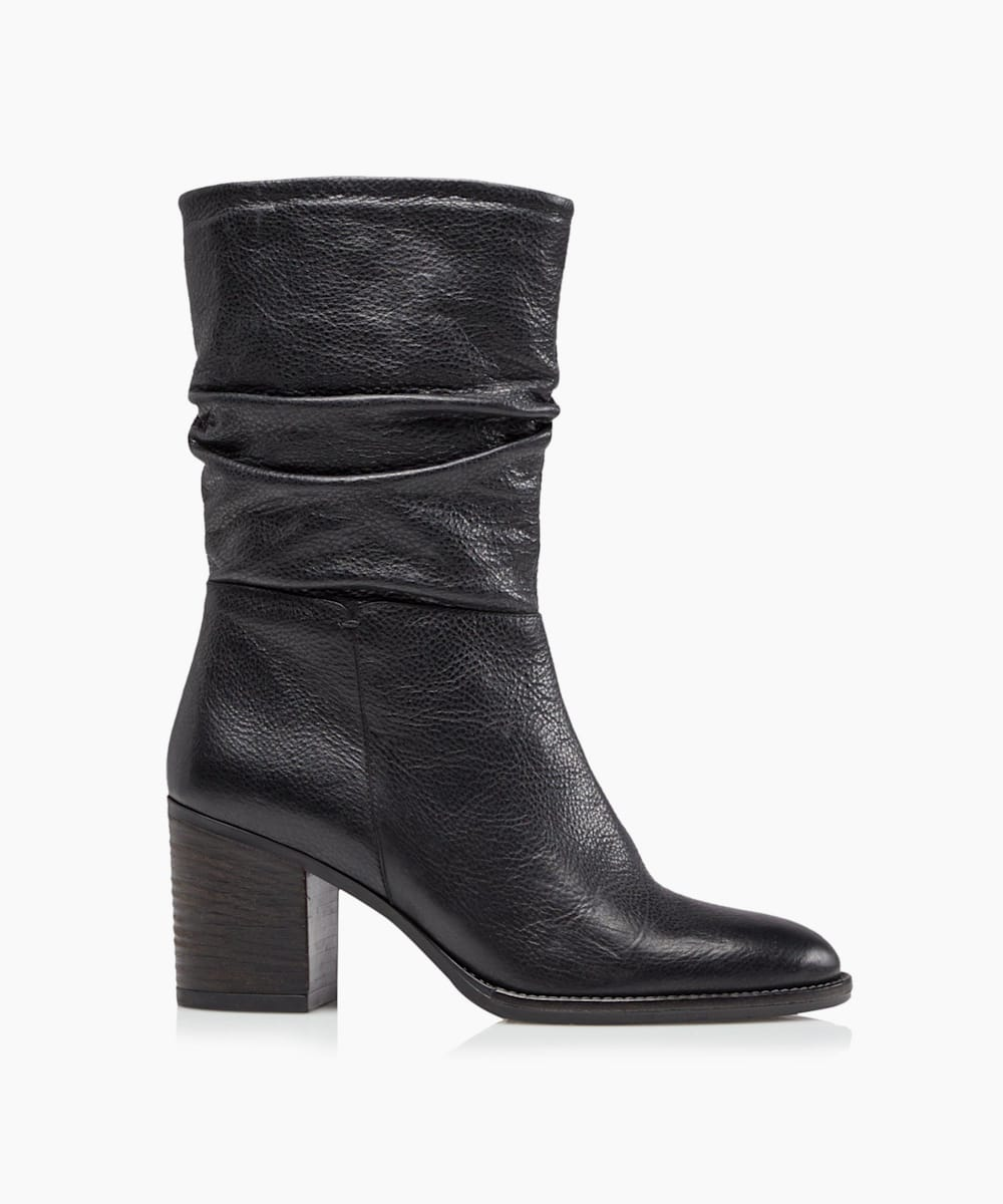 Slouch Heeled Calf Boots