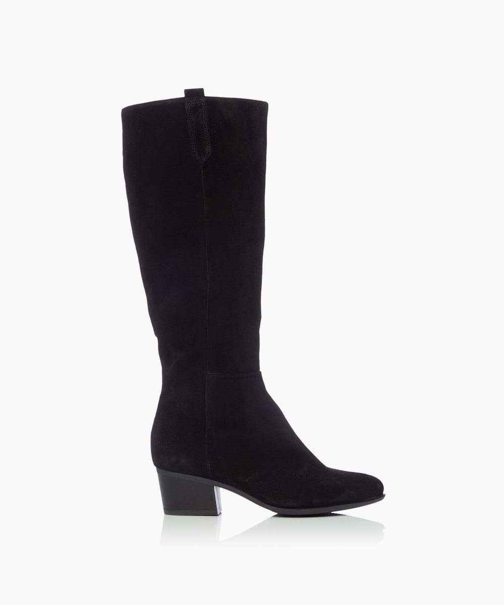 Mid Block Heel Knee-High Boots