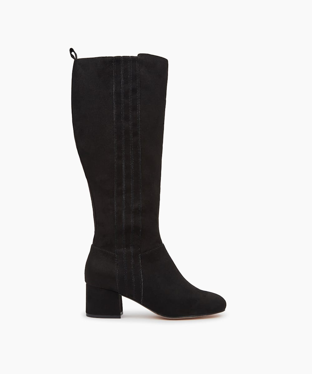 Low Block Heel Knee High Boots