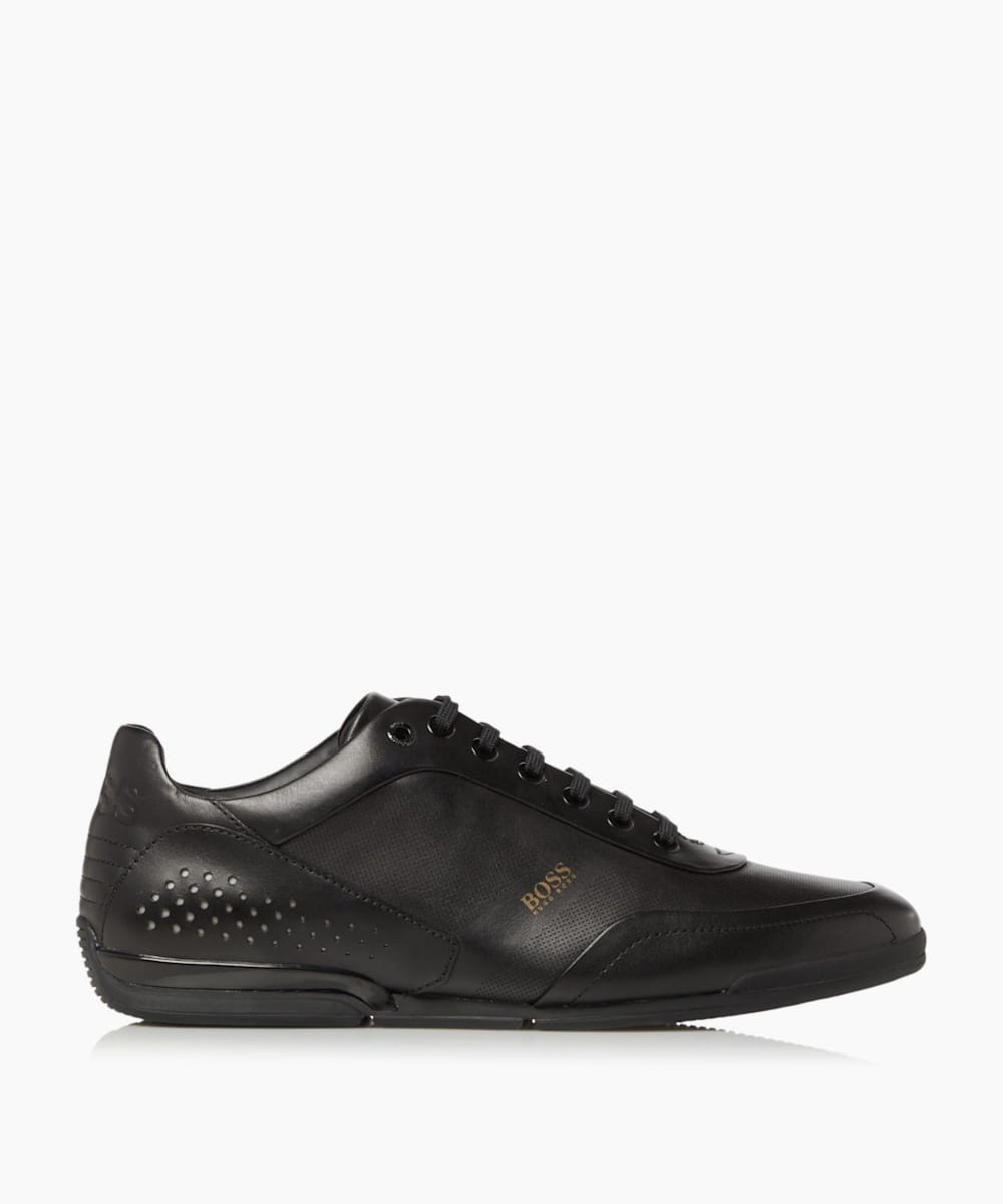 Perforated Lace-Up Trainers