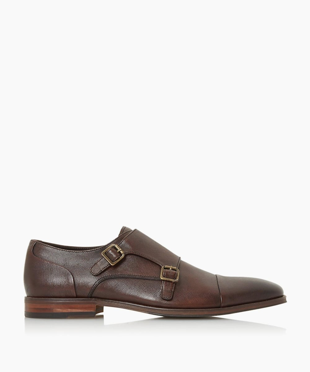 Saffiano Formal Monk Shoes