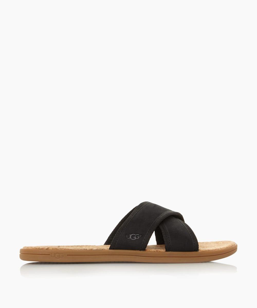Cork Cross Over Slider Sandals