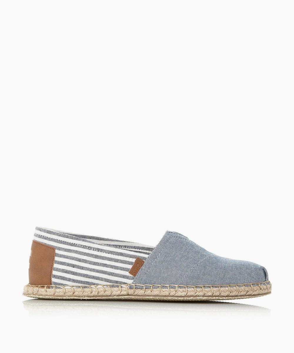 Stripe Detail Slip On Shoes