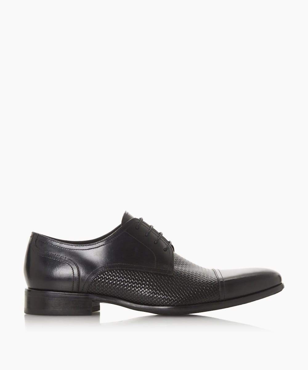 Woven Embossed Lace Up Shoes