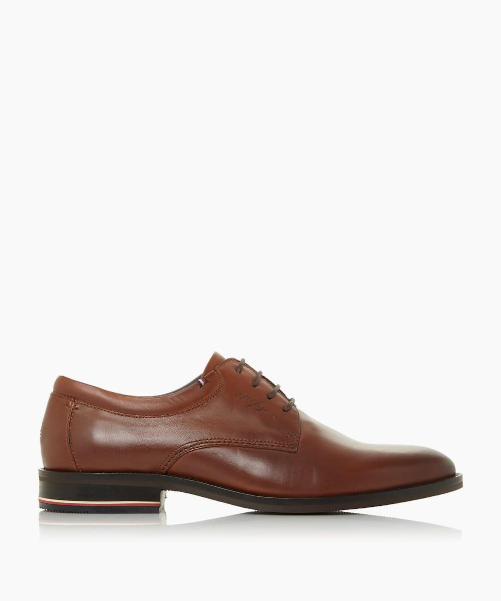 Stripe Heel Derby Shoes