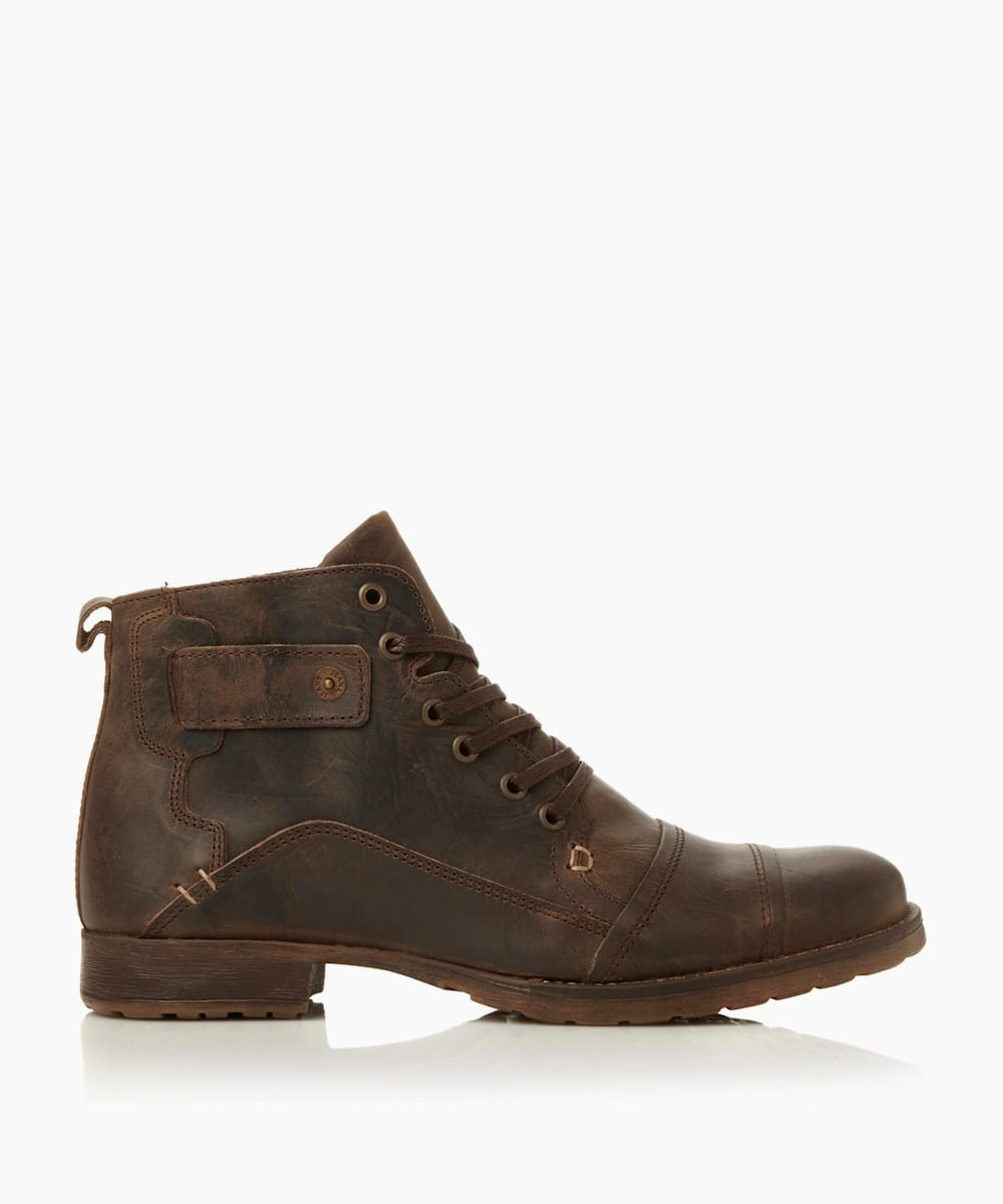 Heavy Duty Leather Ankle Boots