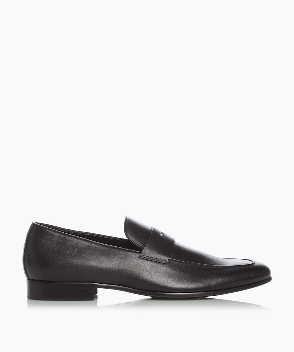 Smart Saffiano Penny Loafers