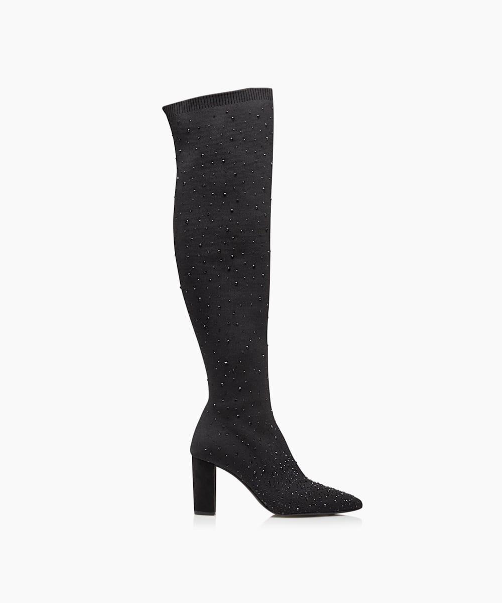 Embellished Over The Knee Sock Boots