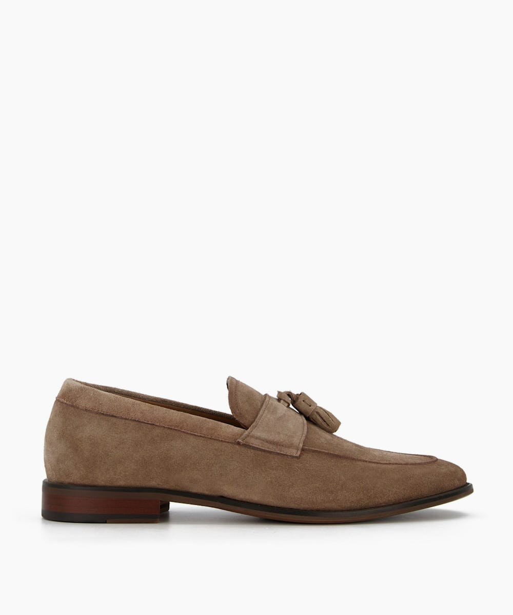Washed Suede Loafers
