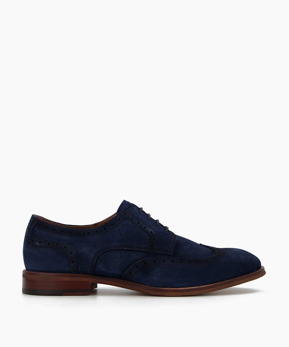 Washed Suede Brogues