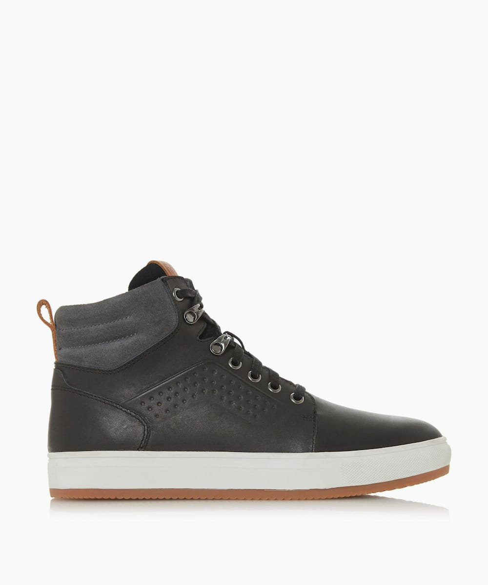 Collar Detail Hi Top Trainers
