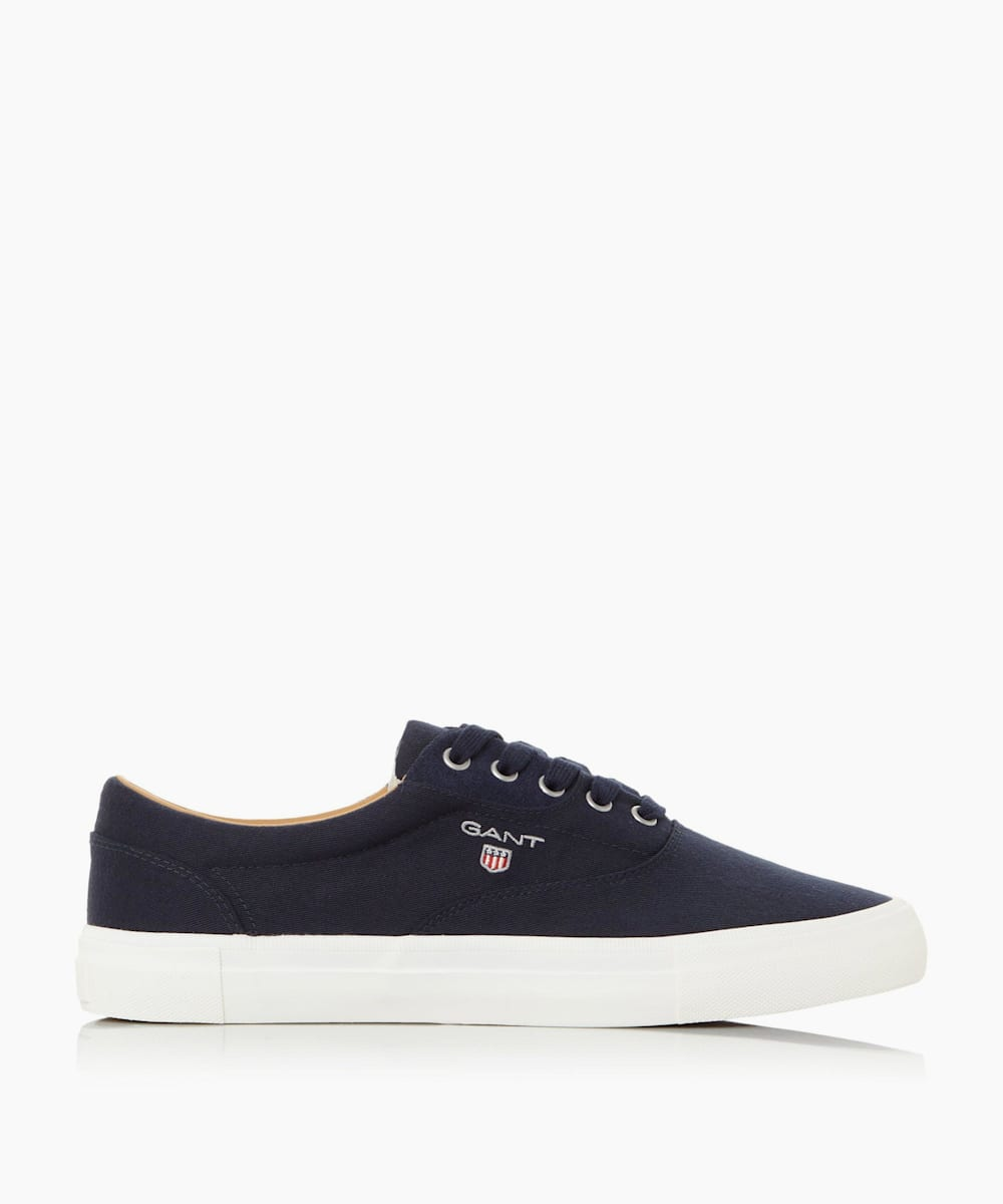 Contrast Sole Logo Lace Up Trainers