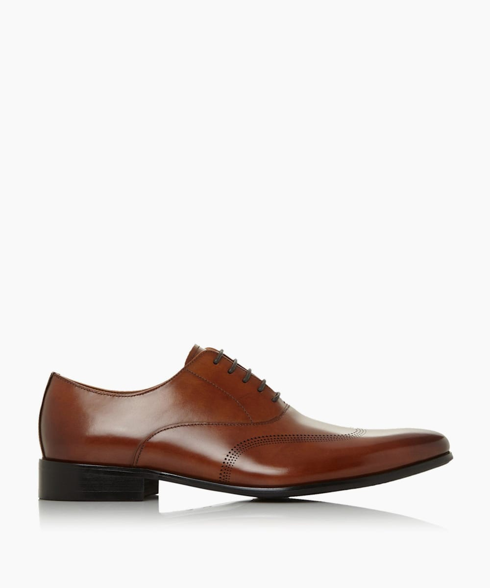 Punched Wingtip Smart Oxford Shoes