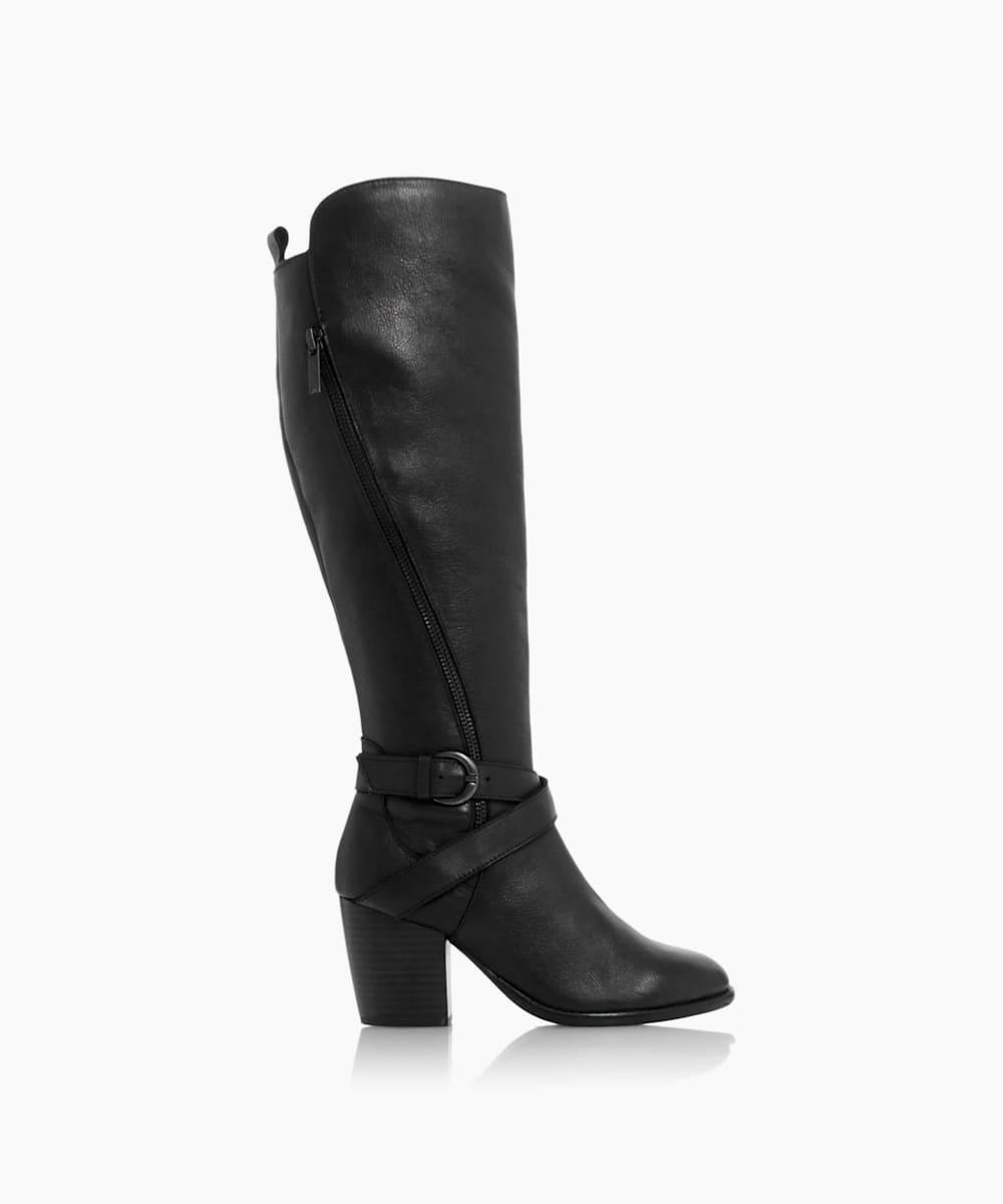 Block Heel Riding Boots