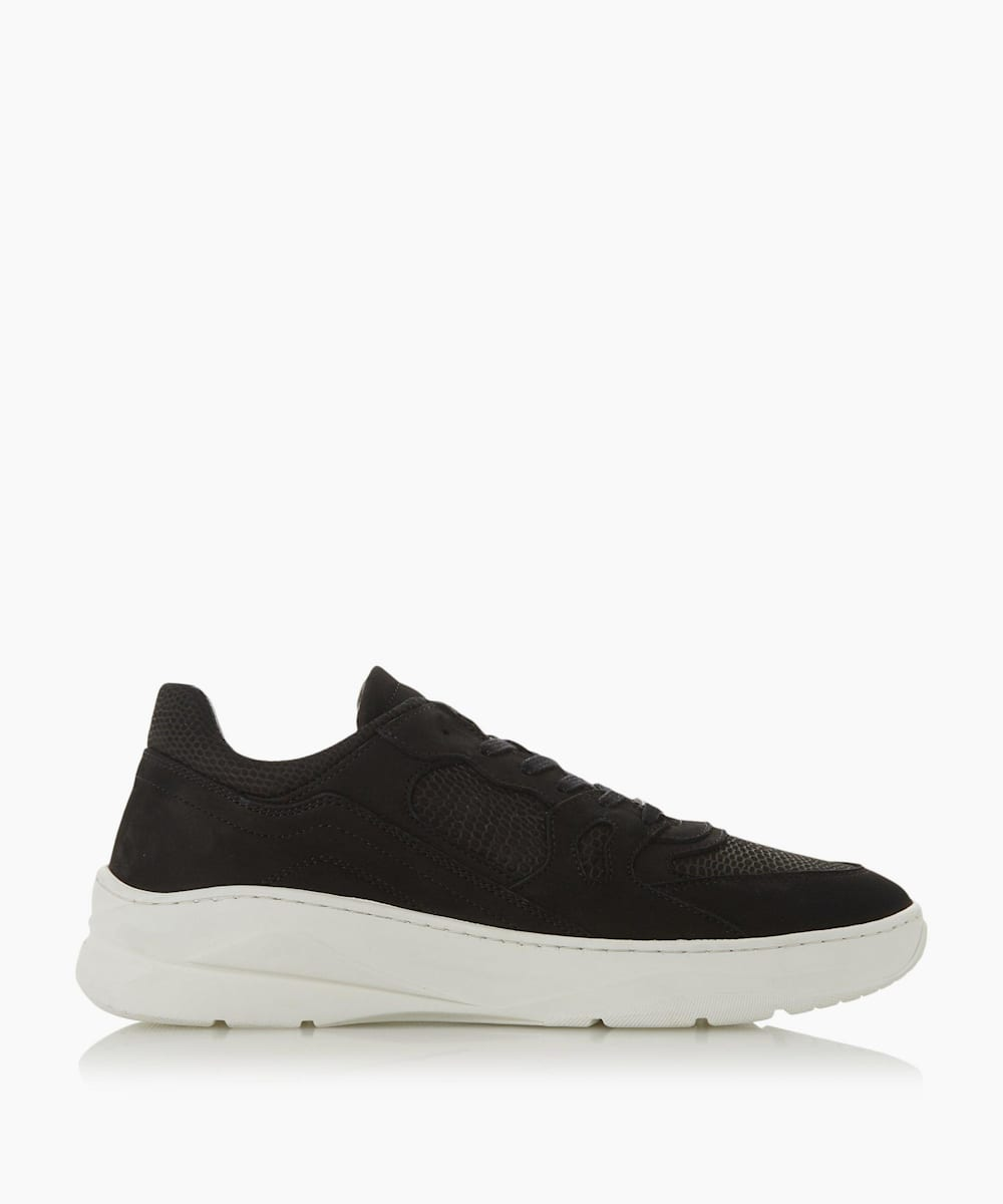 Embossed Lace Up Trainers