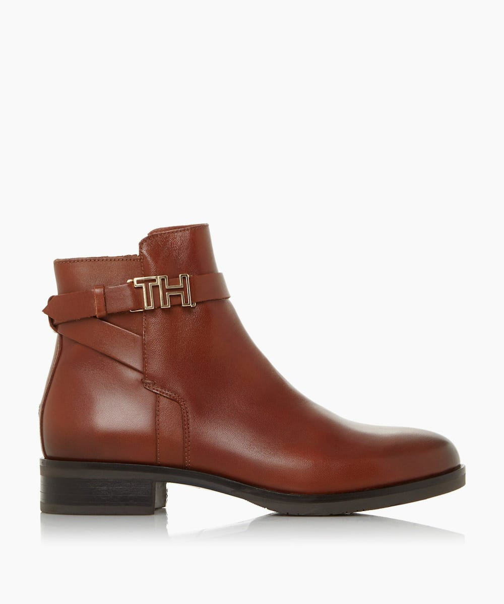 Wrap-Around Strap Ankle Boots