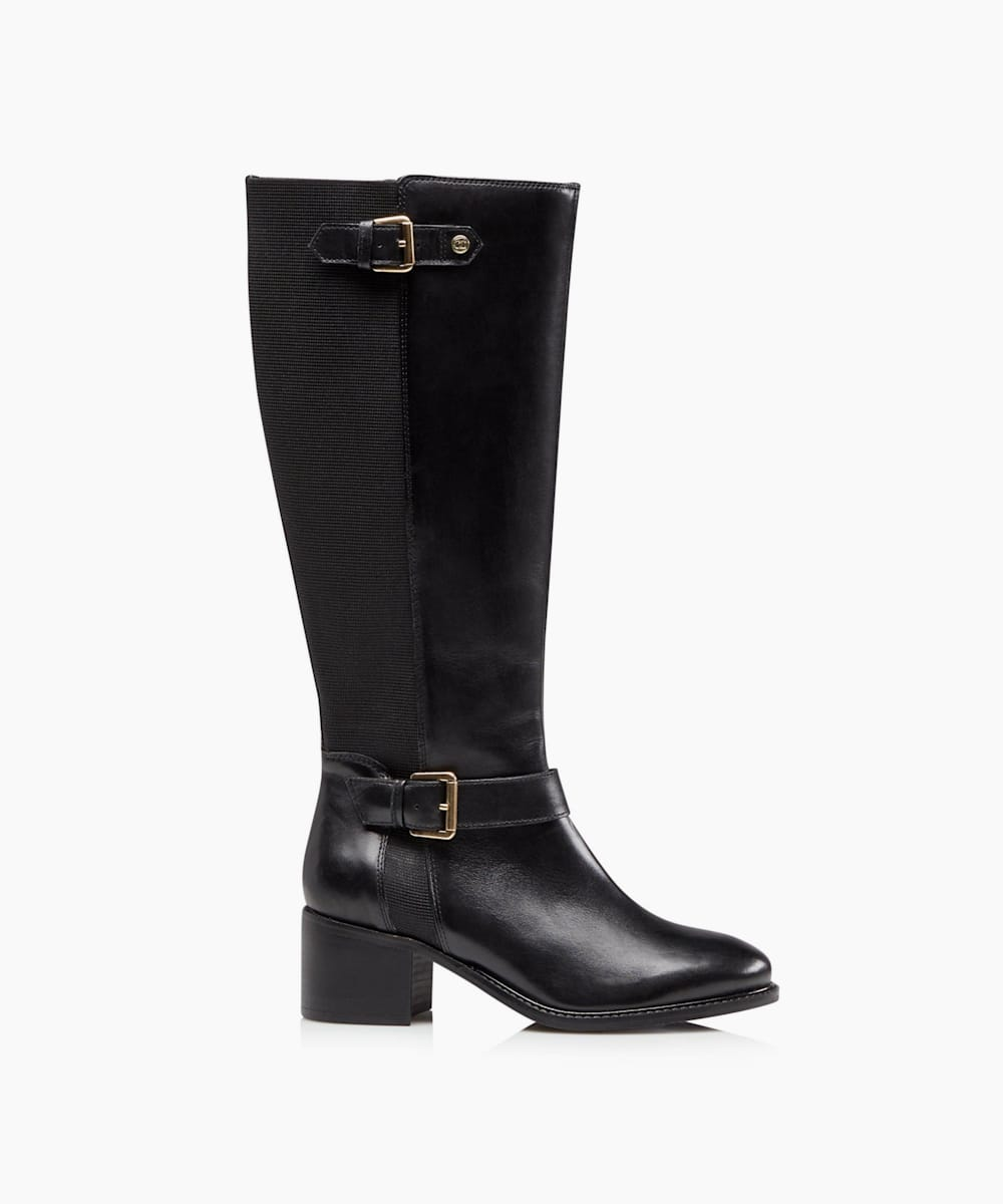 Buckle Strap Detail High Leg Boots