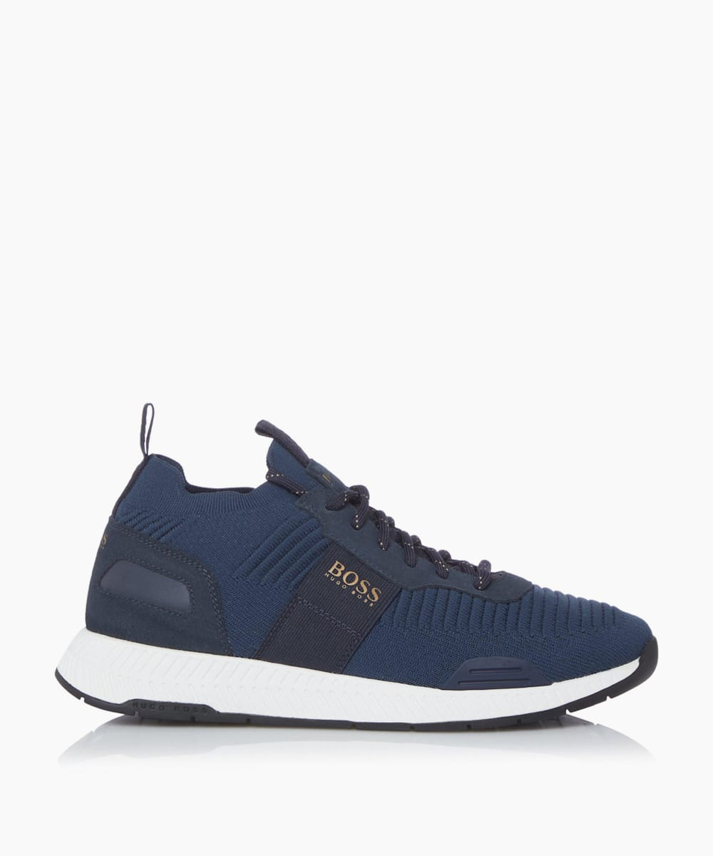 Lace Up Knit Trainers