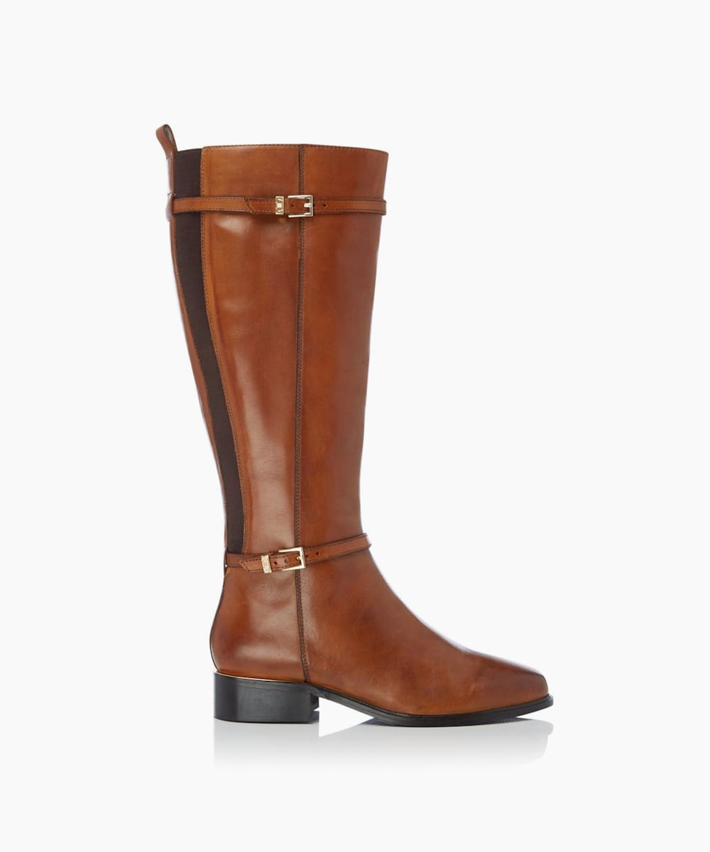 Double Buckle Knee High Boots