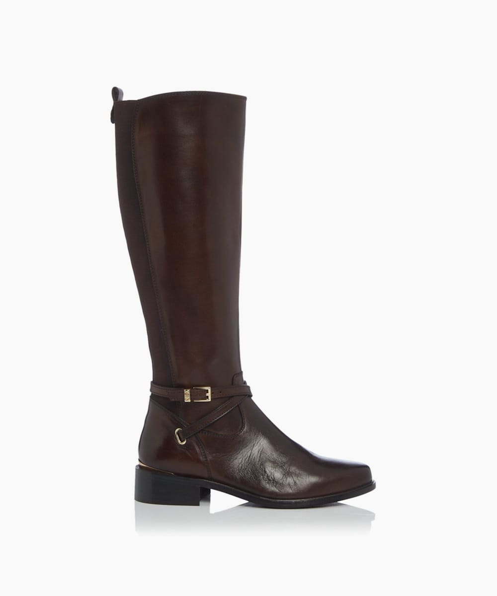 Double Strap Knee High Boots