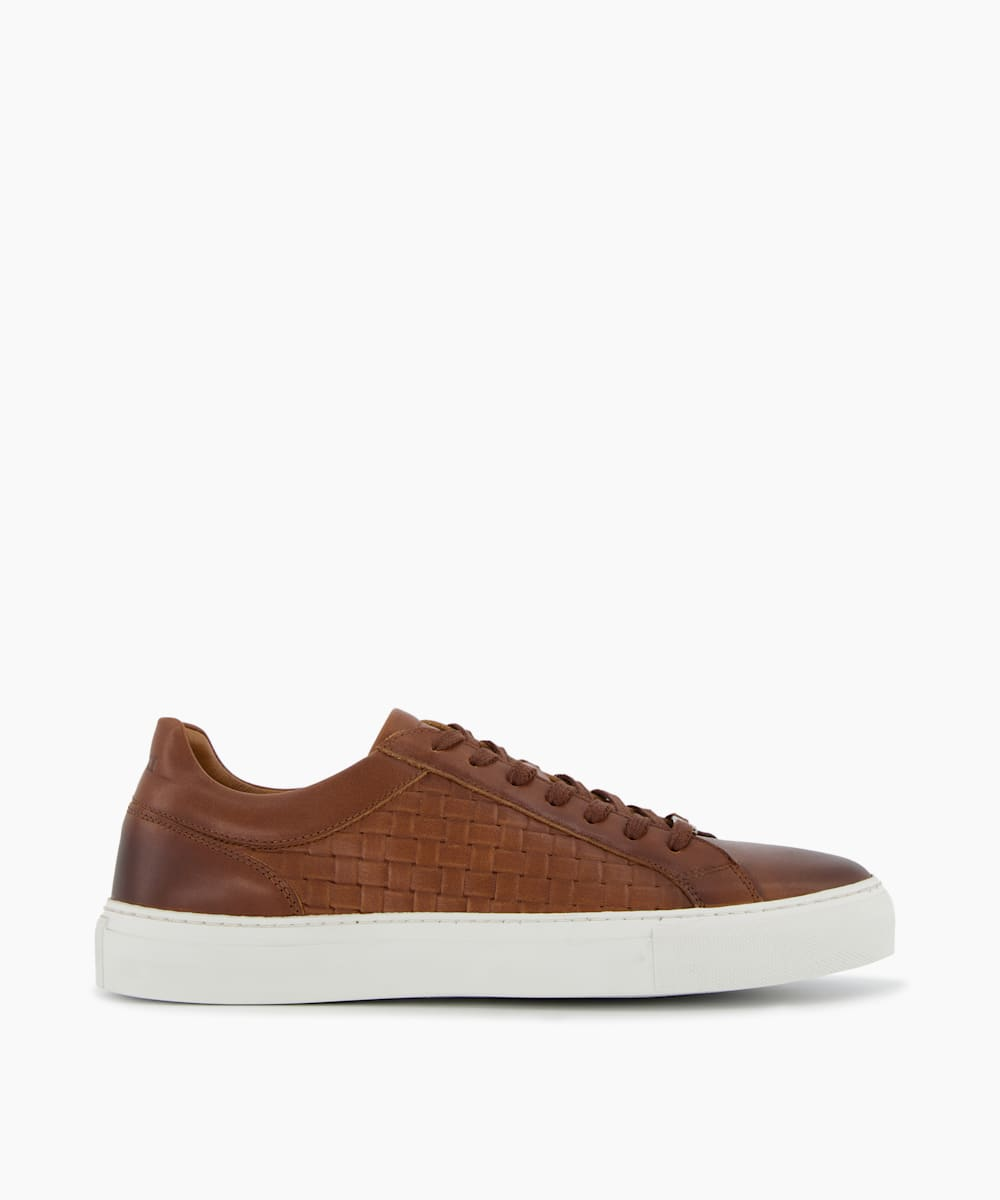 Embossed Weave Cupsole Trainers