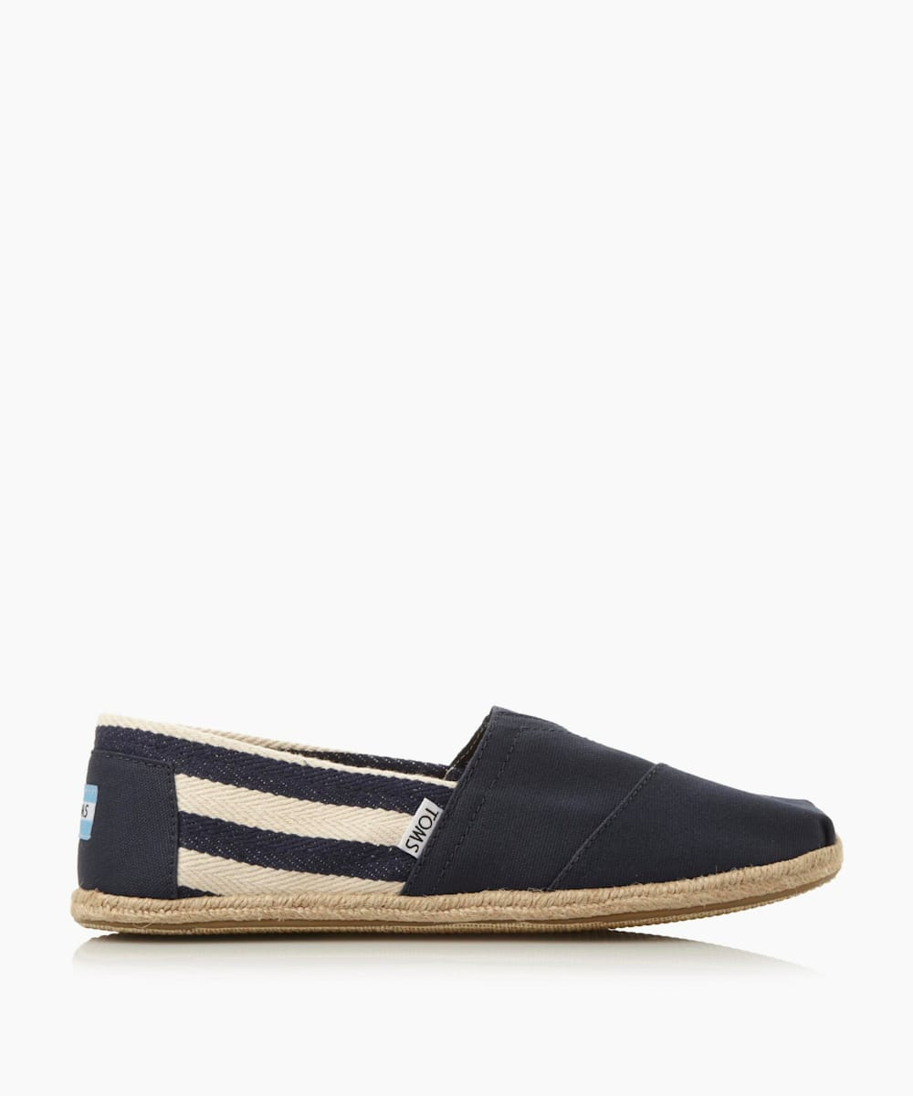 Striped Slip On Shoes