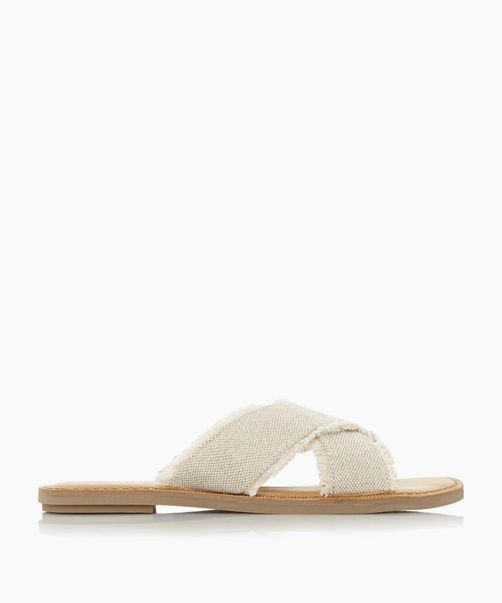 Woven Cross Strap Vegan Sandals