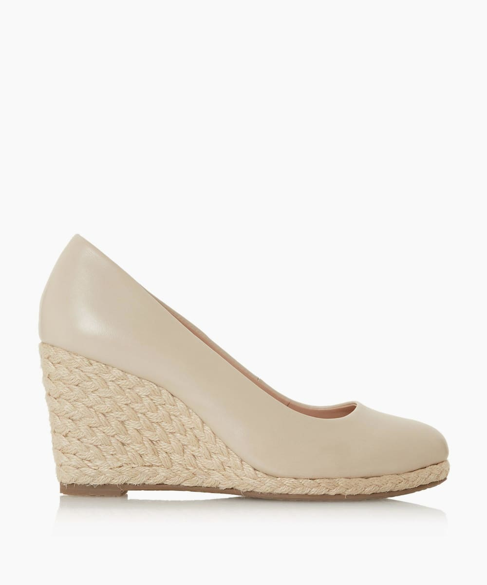 Wide Fit Wedge Heel Espadrille Shoes