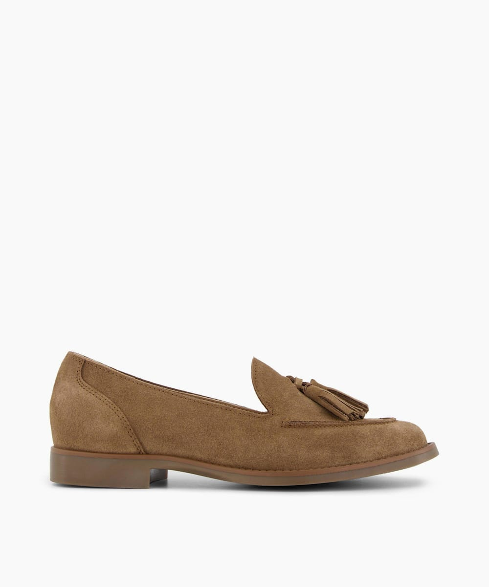 Wide Fit Suede Tassel Loafers