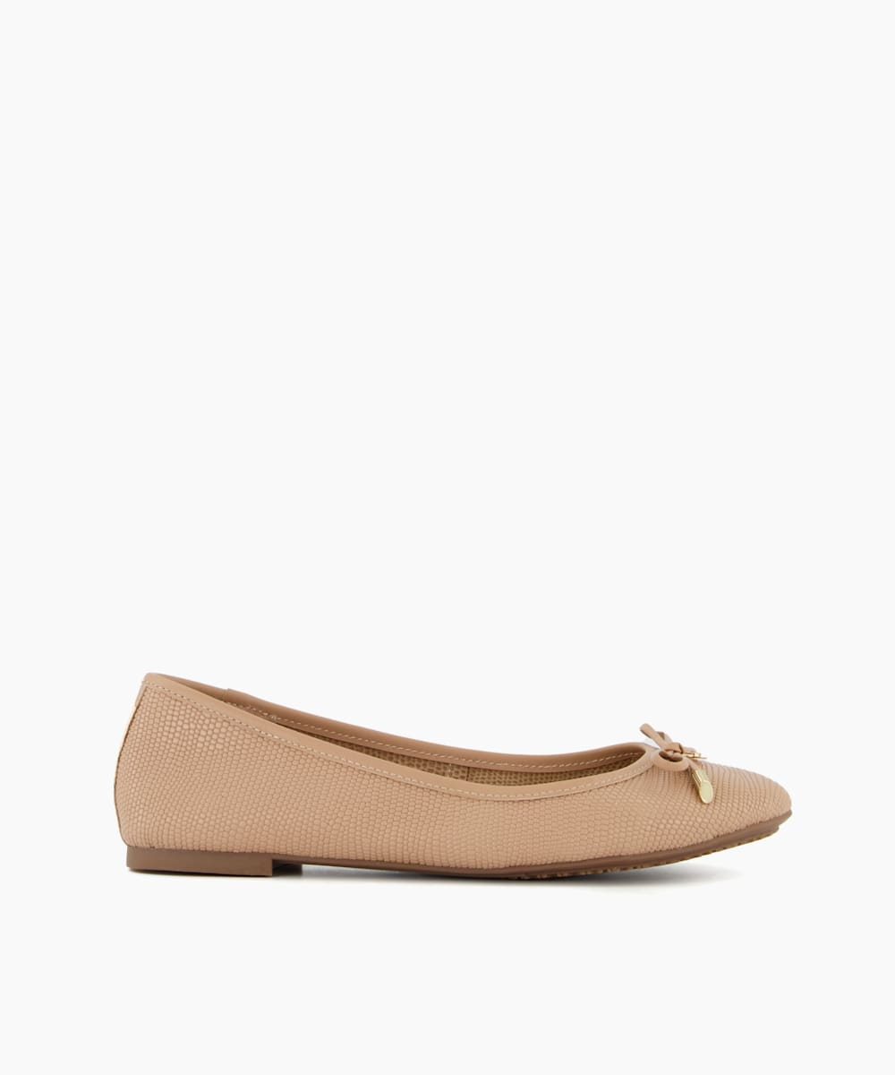 Wide Fit Bow Detail Ballerina Pump