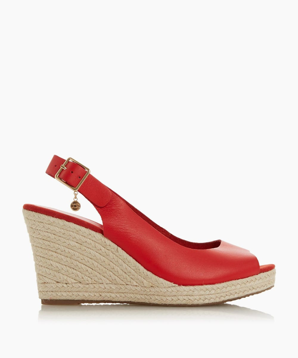 Wide Fit Espadrille Wedge Heel Sandals