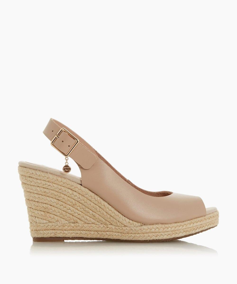 Wide Fit Espadrille Wedge Heel Sandals