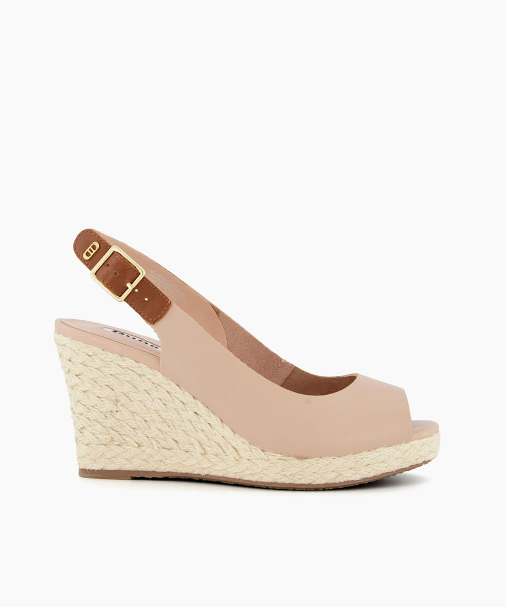 Wide Fit Wedge Heel Sandals