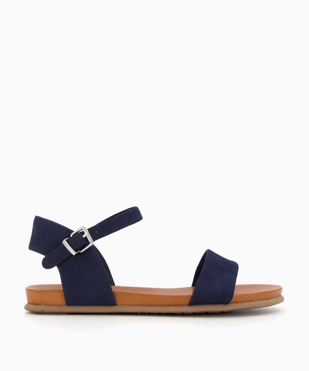 Nubuck Flat Sandals