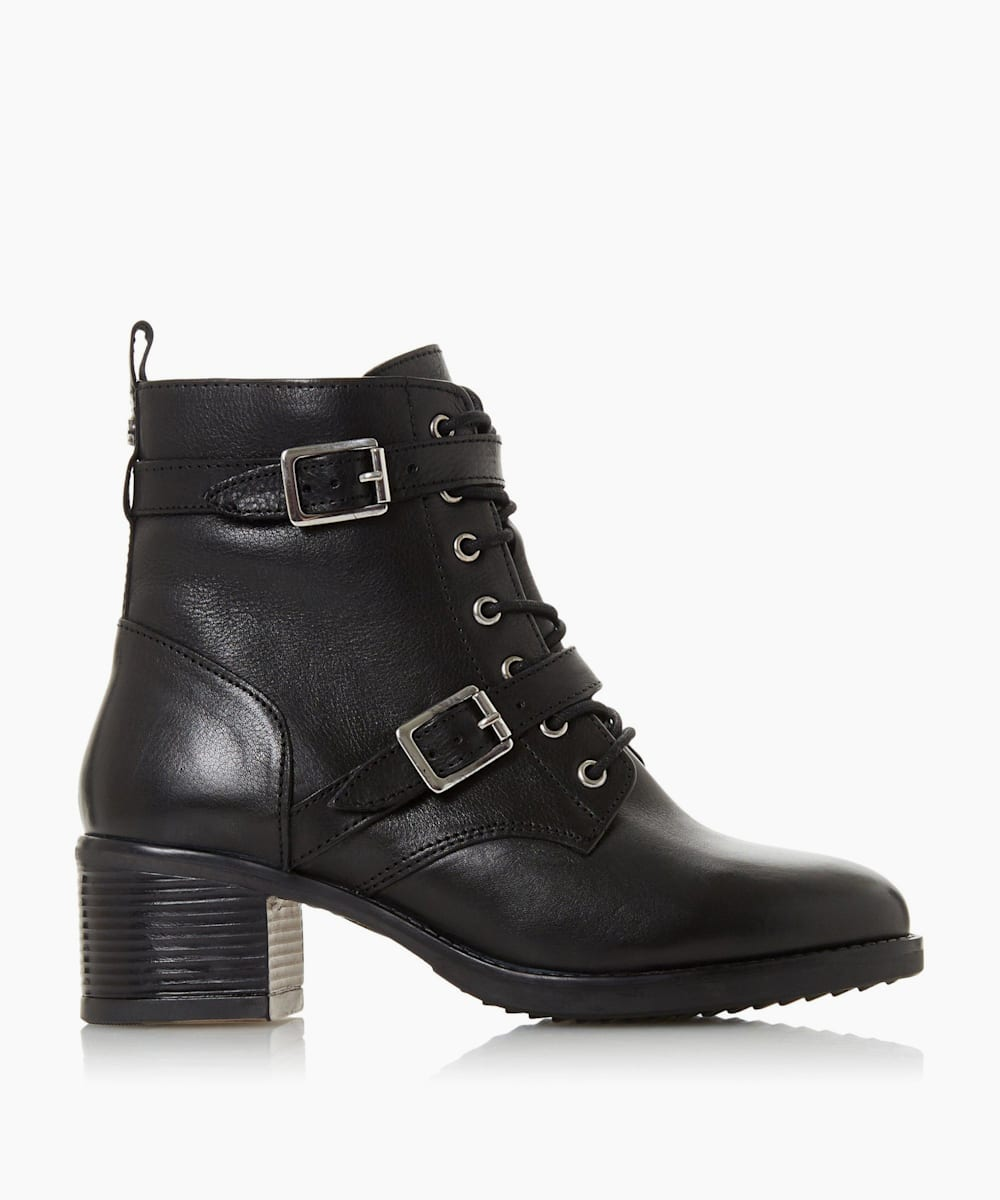 Wide Fit Buckle Detail Ankle Boots