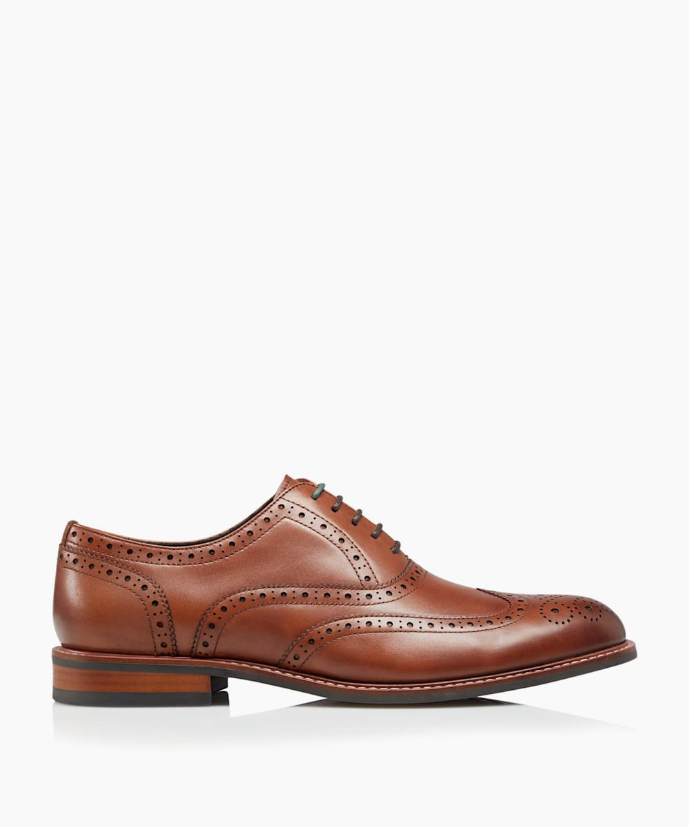 Wide Fit Smart Heavy Brogue Shoes