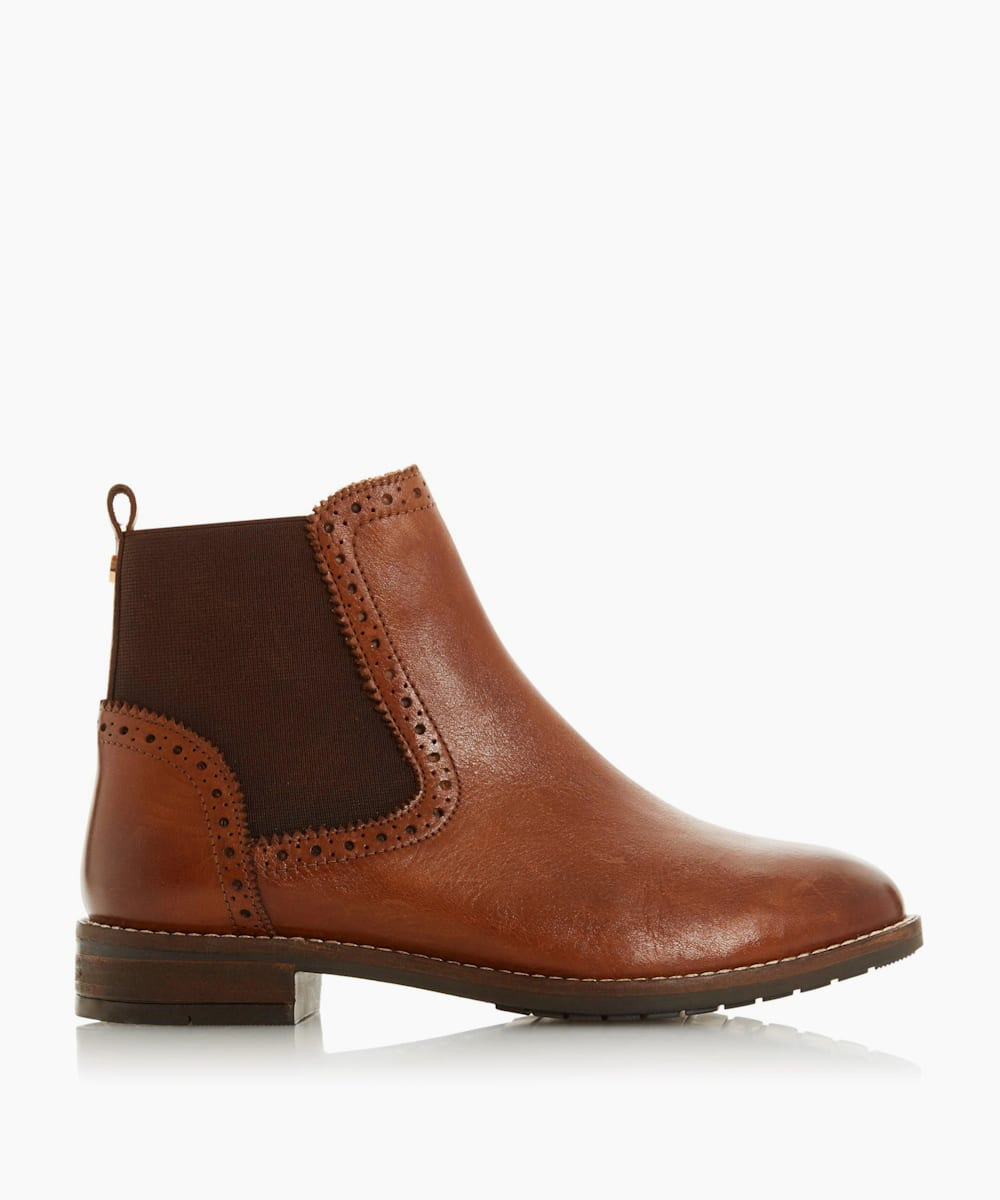 Wide Fit Brogue Chelsea Boots