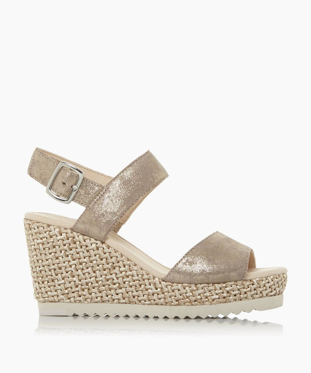 WICKET1 - Woven Wedge Slingback Sandals