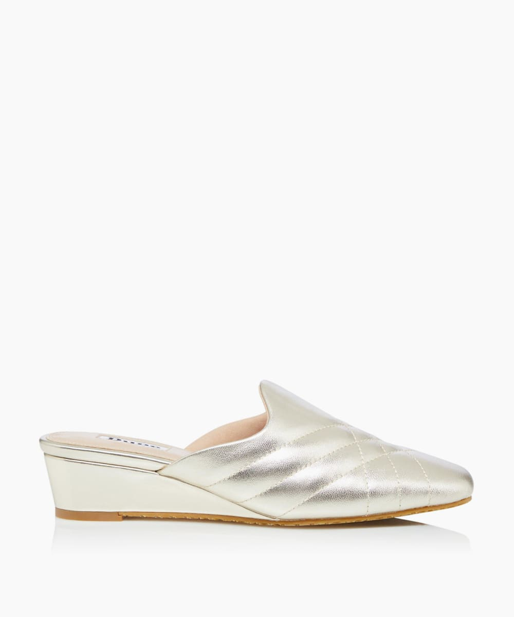 Wedge Mule Slippers